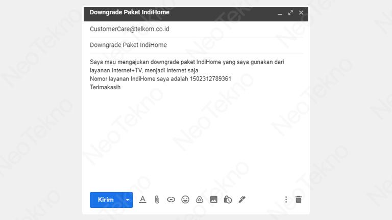 cara downgrade paket indihome online