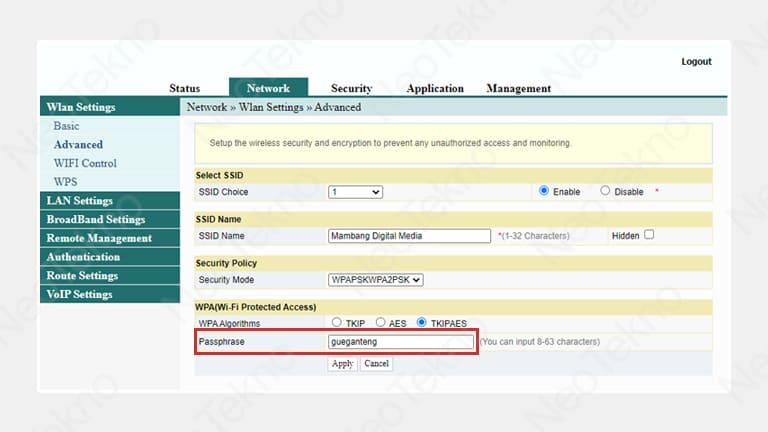 cara ganti password wifi indihome fiberhome