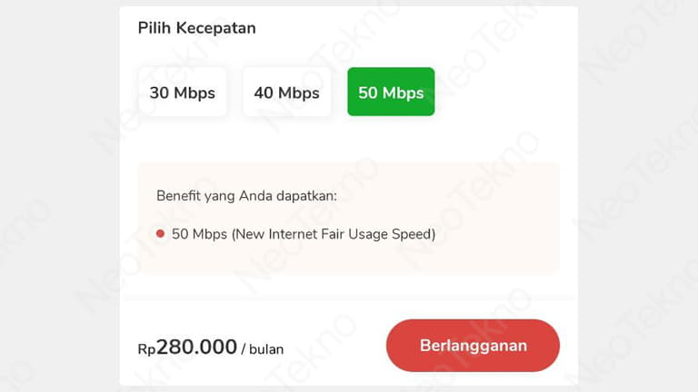 upgrade speed indihome online