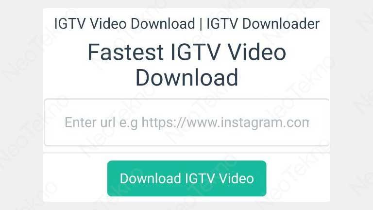 cara download igtv tanpa aplikasi
