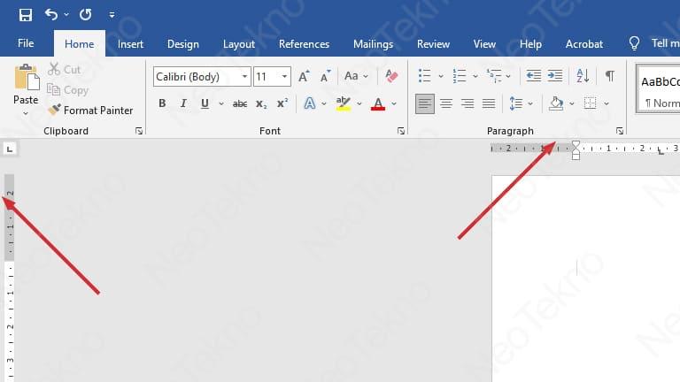 cara mengaktifkan ruler di microsoft word