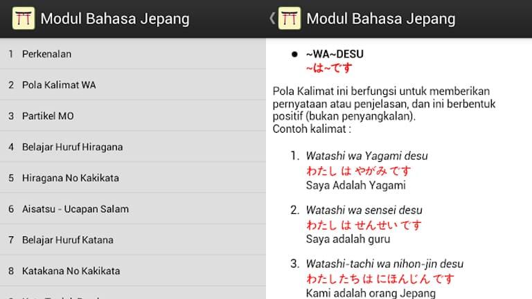 aplikasi belajar bahasa jepang gratis