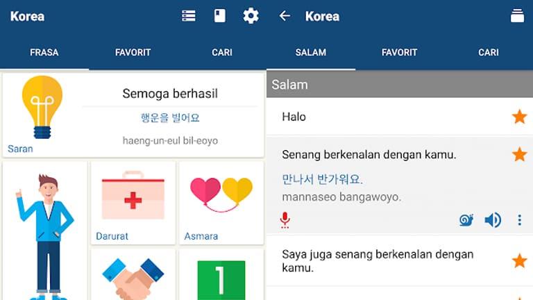 aplikasi belajar bahasa korea offline terbaik
