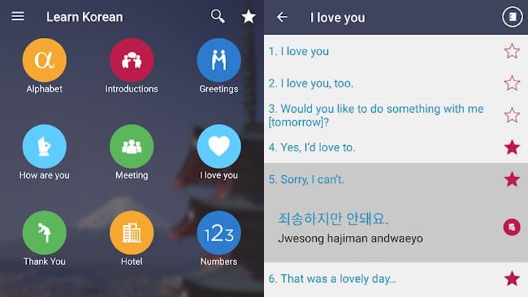 aplikasi belajar bahasa korea offline