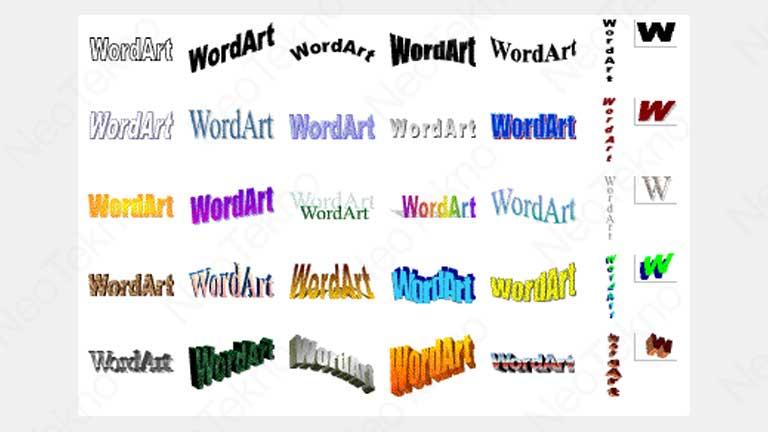 buat wordart di word