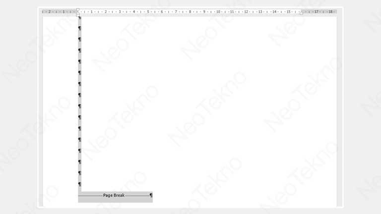 cara menghapus halaman kosong di word